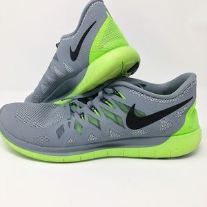 Nike Free 5.0 Neon Green & Gray Sneakers